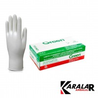 GREEN LATEX AZ PUDRALI MUAYENE ELDİVENİ LARGE 100 AD
